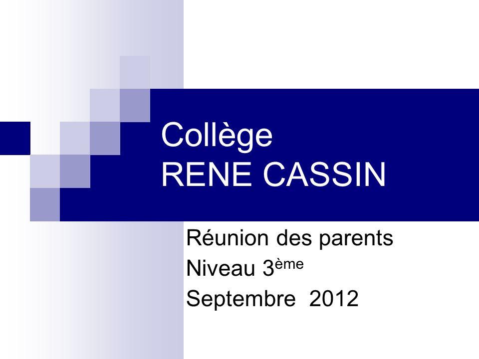 Les objectifs de 3 ème Le DNB Lorientation La réforme des lycées Le stage de 3 ème « Les enjeux de la classe de 3° »