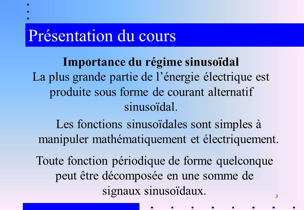 4 Objectifs Connaître les lois de l électricité et leurs représentations en notation complexe.