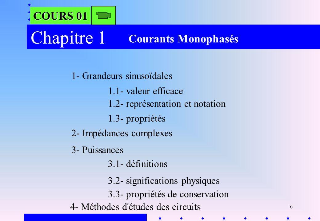 37 Exercice 84- Méthode détudes des circuits Exo 8 Exo 9 Courants Monophasés Page 3