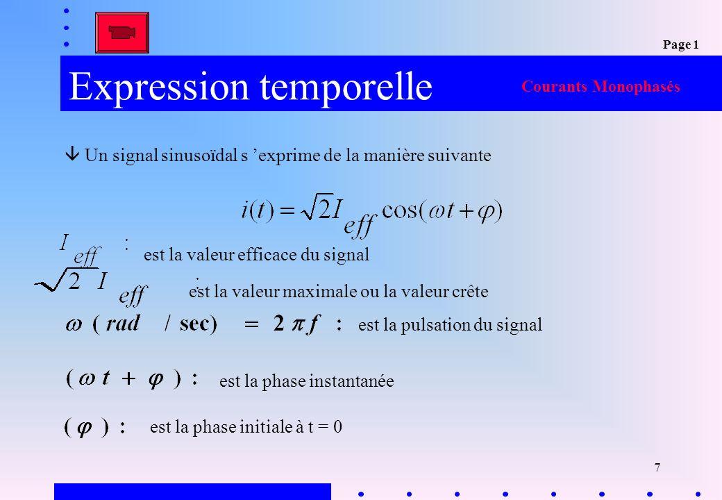 18 Exercice31.3-Propriétés Exo 3 Courants Monophasés Page 2 Représentation vectorielle
