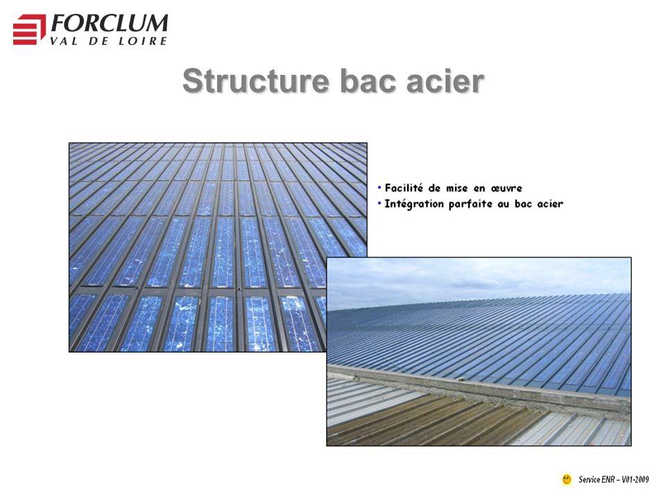 Structure bac acier