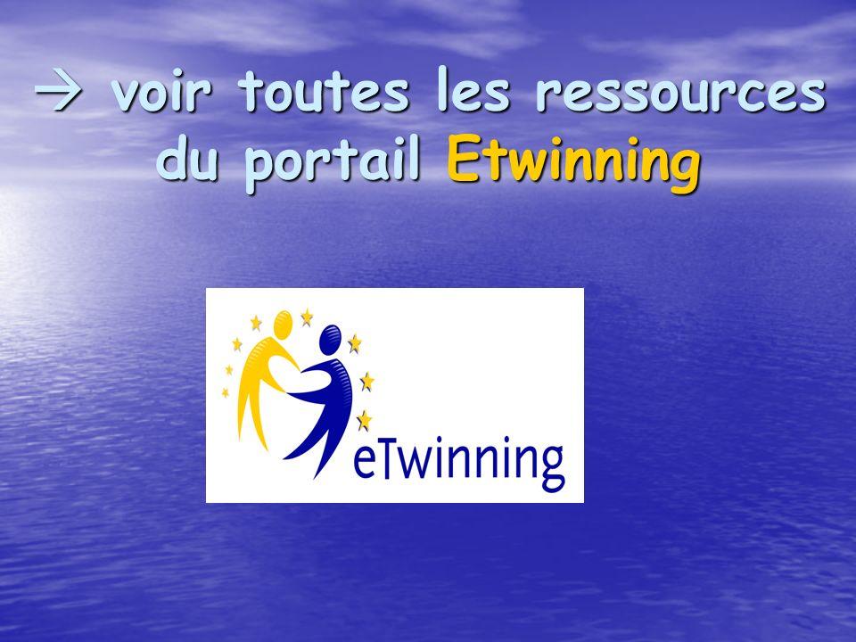 voir toutes les ressources du portail Etwinning voir toutes les ressources du portail Etwinning