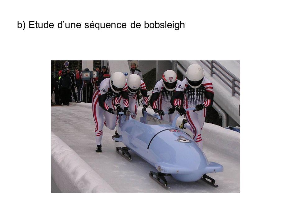 b) Etude dune séquence de bobsleigh
