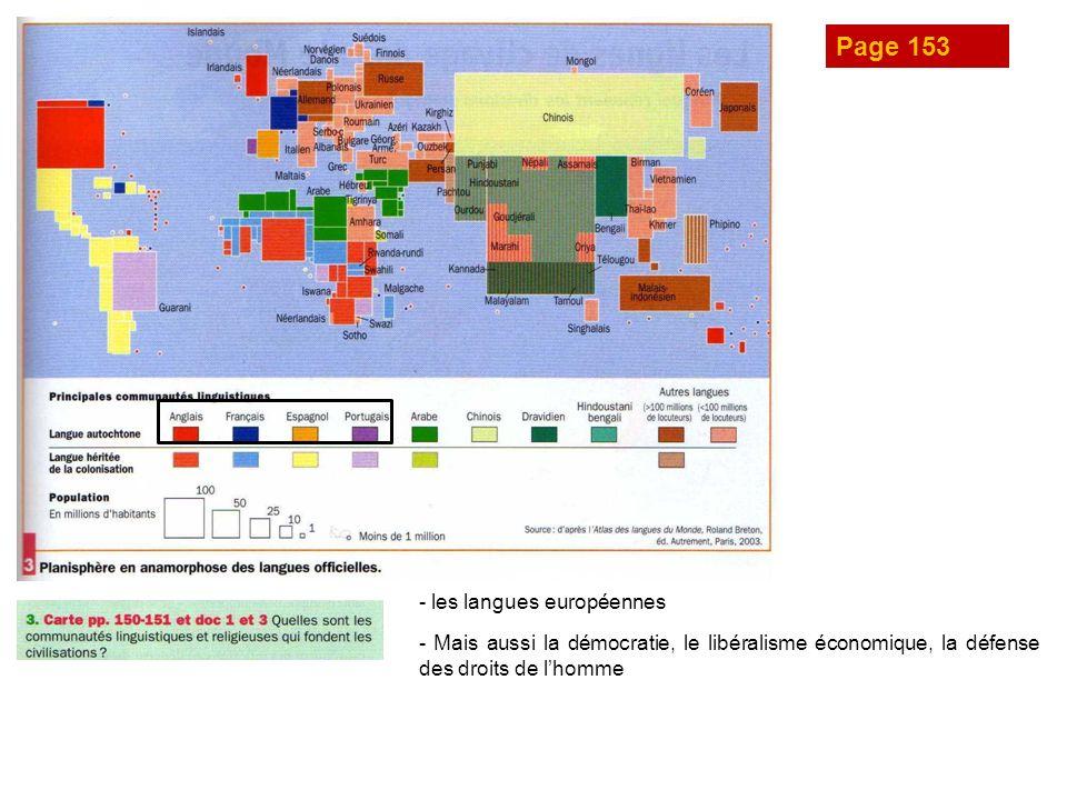 Page 153 - les langues européennes - Mais aussi la démocratie, le libéralisme économique, la défense des droits de lhomme