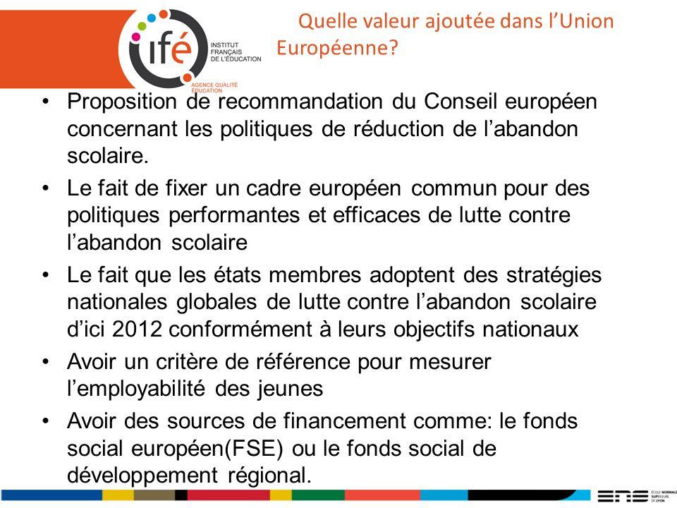 Quelle valeur ajoutée dans lUnion Européenne.