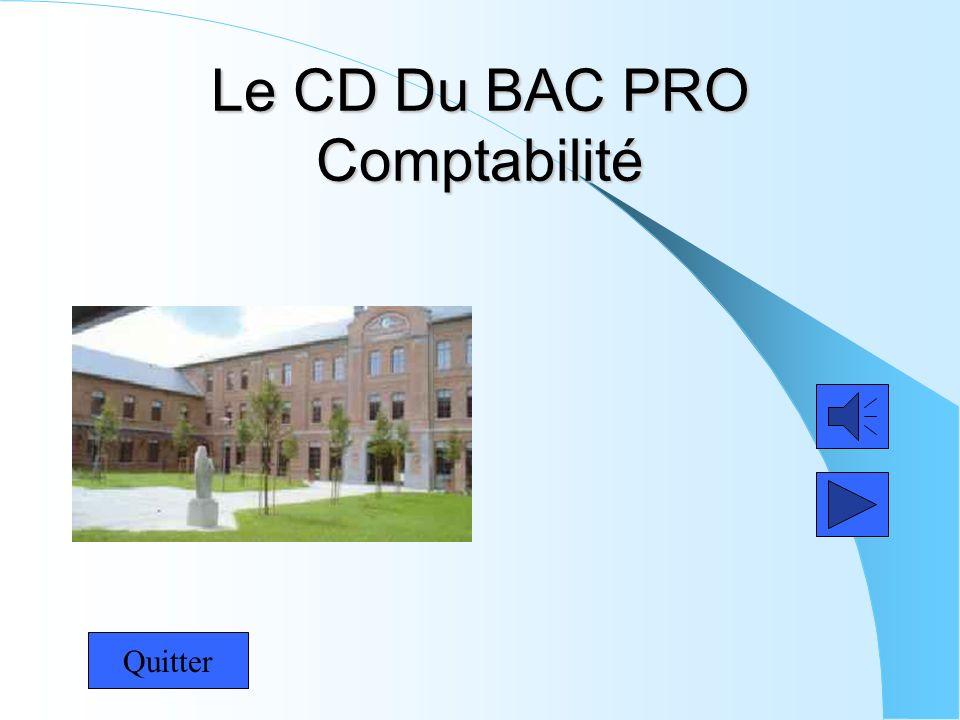 Le CD Du BAC PRO Comptabilité Quitter