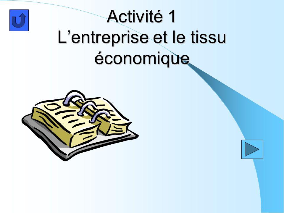 Activité 1 Lentreprise et le tissu économique