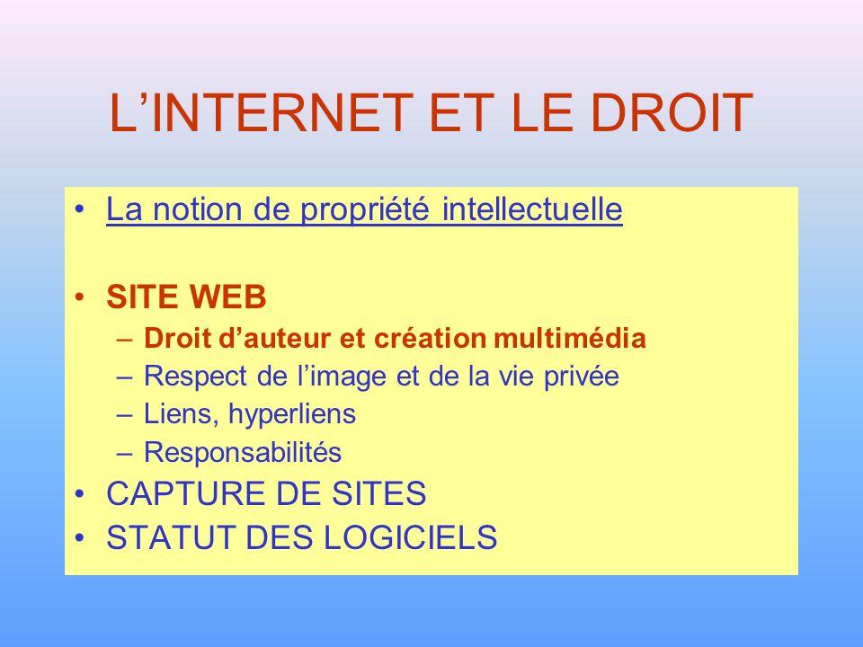 Droit dauteur et création multimédia 1.Utiliser pour la création multimédia des logiciels et des matériels dûment acquis.