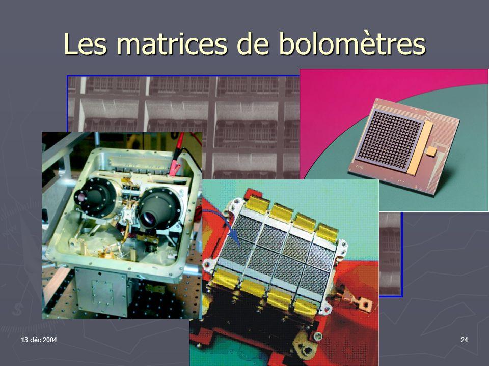 13 déc 200424 A la réalité. (60 - 210 µm) Les matrices de bolomètres
