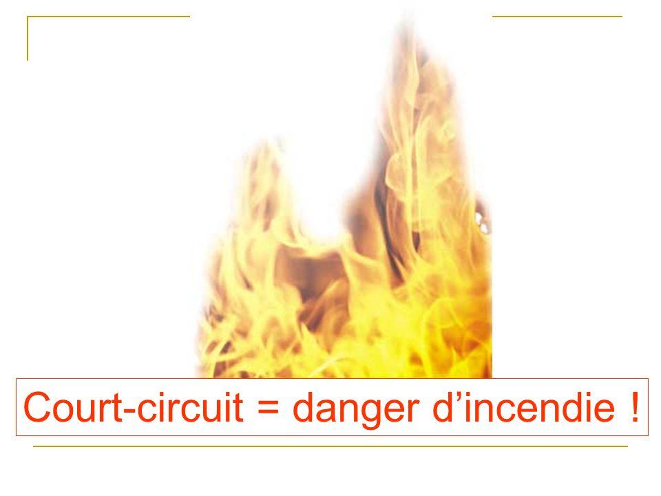 Court-circuit = danger dincendie !