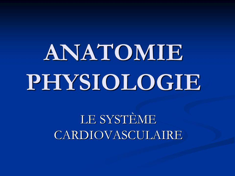 ANATOMIE PHYSIOLOGIE LE SYSTÈME CARDIOVASCULAIRE