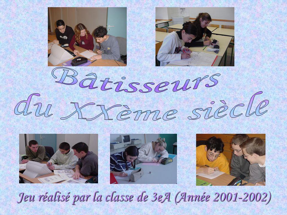 Jeu réalisé par la classe de 3eA (Année 2001-2002)