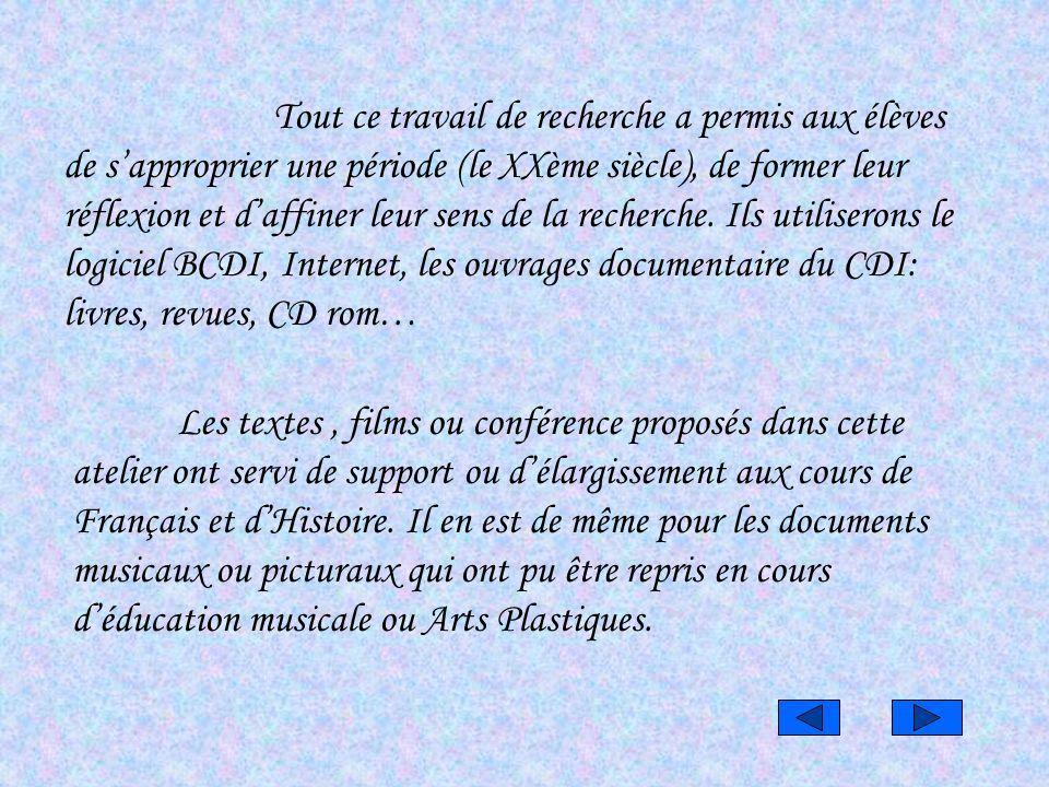 *une présentation multimédia sur CD Rom reprenant les étapes du projet.