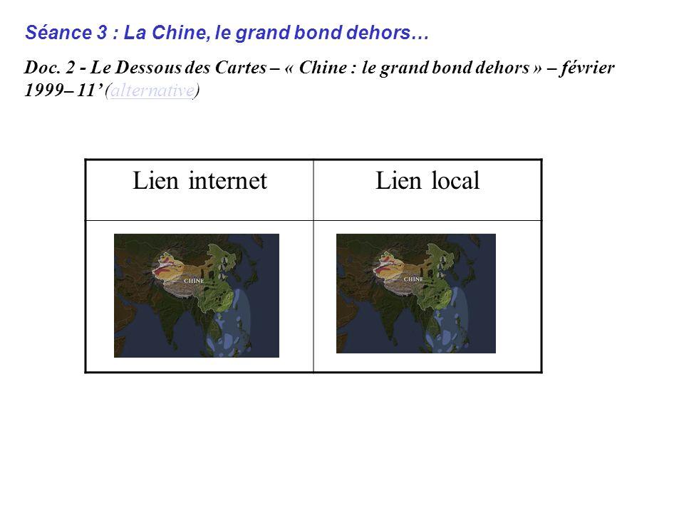 Séance 3 : La Chine, le grand bond dehors… Doc.