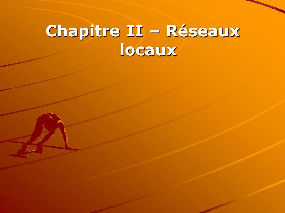 Chapitre II – Réseaux locaux