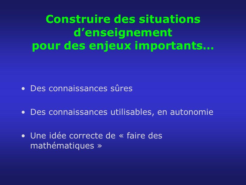 A propos de la manipulation… Il faut se convaincre que ce nest pas la manipulation dun matériel qui constitue lactivité mathématique….