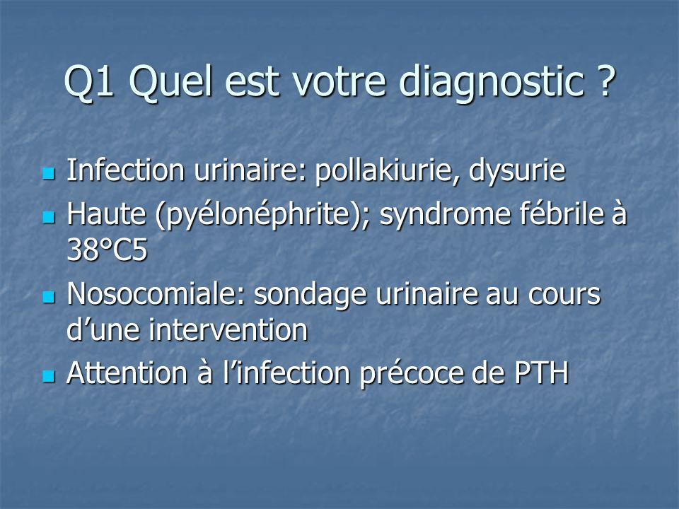 Pyélonéphrites aiguës sans complication antibiotiques utilisables : antibiotiques utilisables : Céphalosporine de 3ème génération Céphalosporine de 3ème génération Aztréonam Aztréonam Fluoroquinolones Fluoroquinolones Cotrimoxazole Cotrimoxazole Aminosides possible en début de traitement 48 à 72 heures en 1 dose /jr Aminosides possible en début de traitement 48 à 72 heures en 1 dose /jr Durée : 14 jours Durée : 14 jours Réévaluation secondaire du traitement en fonction de l antibiogramme Réévaluation secondaire du traitement en fonction de l antibiogramme