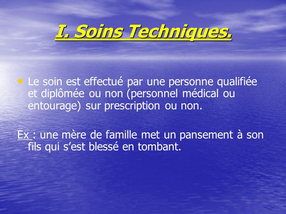 I.Soins Techniques.