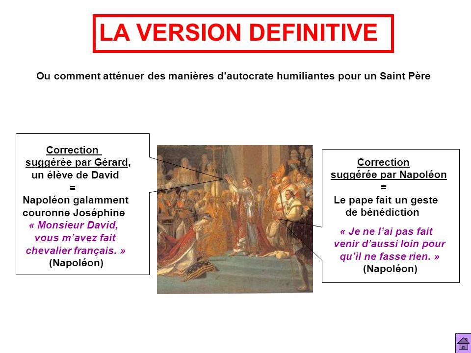 Ou comment atténuer des manières dautocrate humiliantes pour un Saint Père LA VERSION DEFINITIVE Correction suggérée par Gérard, un élève de David = N