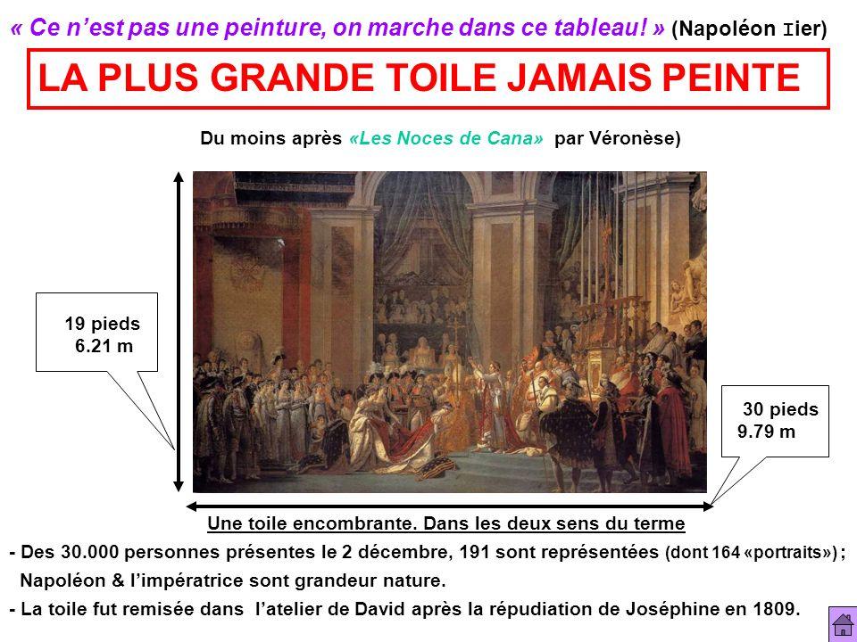 « Ce nest pas une peinture, on marche dans ce tableau! » (Napoléon I ier) LA PLUS GRANDE TOILE JAMAIS PEINTE Du moins après «Les Noces de Cana» par Vé