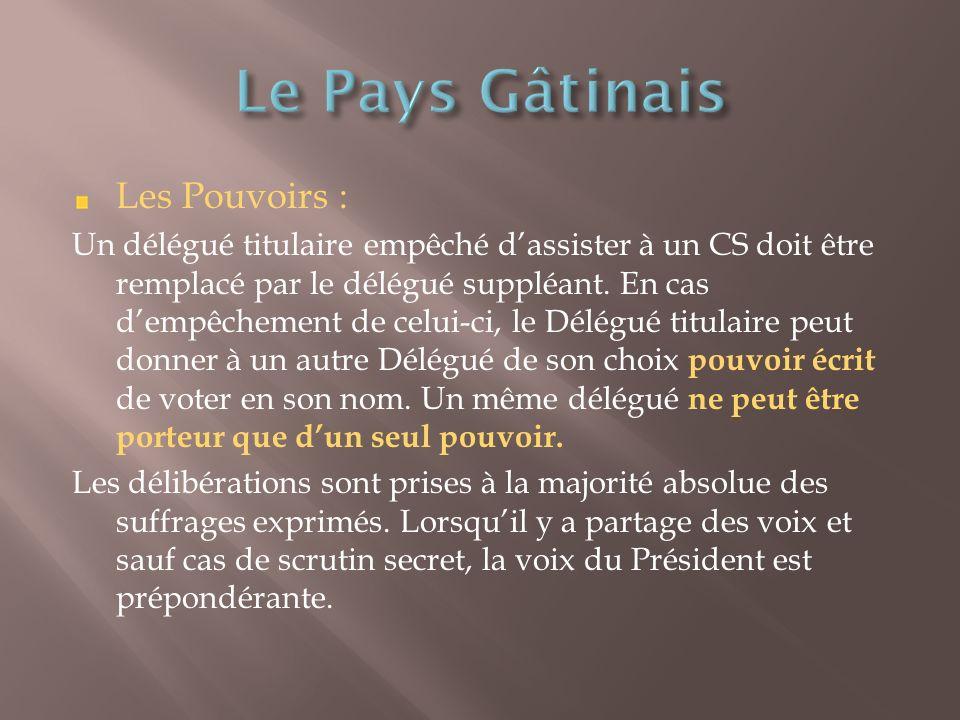 Les Pouvoirs : Un délégué titulaire empêché dassister à un CS doit être remplacé par le délégué suppléant.