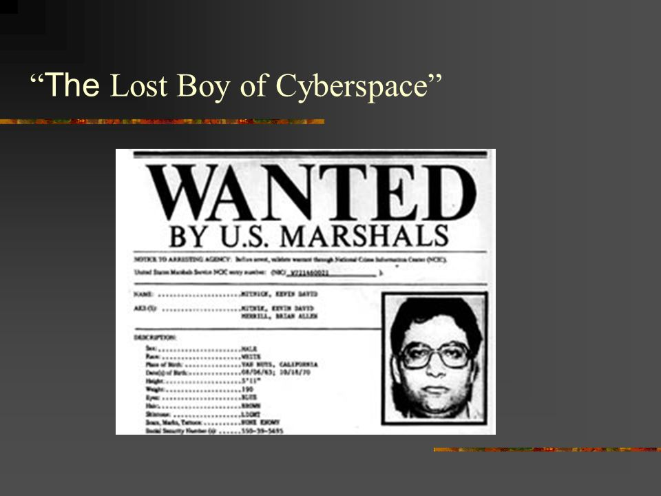 The Lost Boy of Cyberspace
