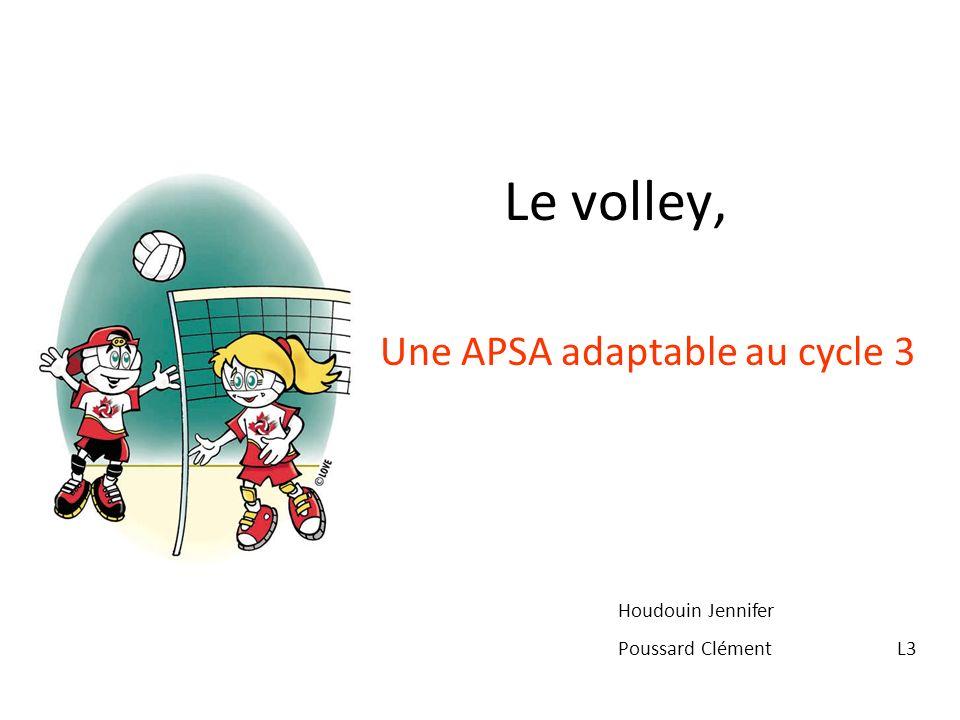 Le volley, Une APSA adaptable au cycle 3 Houdouin Jennifer Poussard Clément L3