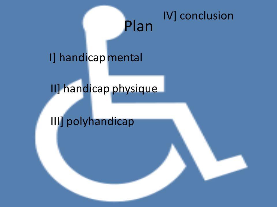 Plan I] handicap mental II] handicap physique III] polyhandicap IV] conclusion