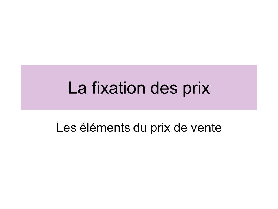 Prix de vente Coût Dachat Partie des Frais De distribution La marge TVA