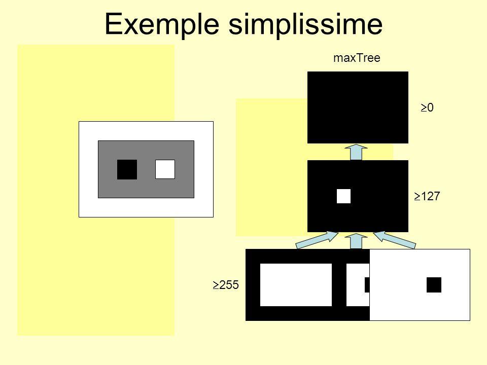 0 127 255 127 0 minTree maxTree Exemple simplissime 255