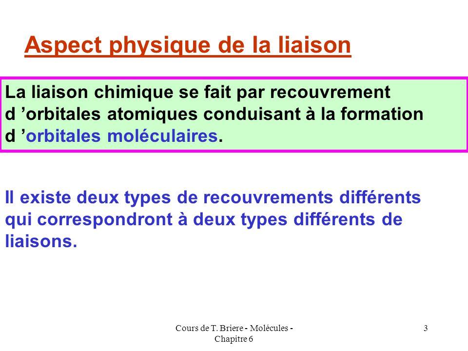 Cours de T. Briere - Molécules - Chapitre 6 2 La résolution exacte de cette équation n est possible que dans le cas le plus simple, celui de la molécu