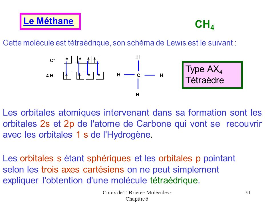 Cours de T. Briere - Molécules - Chapitre 6 50 Ce tour de