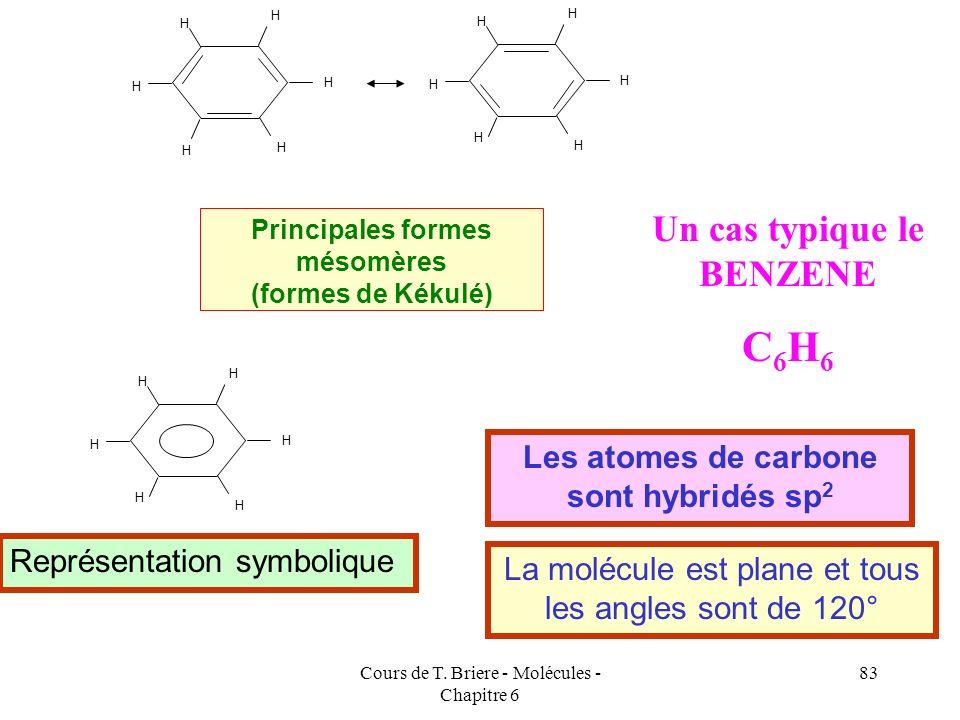 Cours de T. Briere - Molécules - Chapitre 6 82 + - + - CH 3 CH CH 3 CH Exemples concrets CH 2 CH C O H O CH 2 CH C H CH 2 CH Cl CH 2 CH Cl