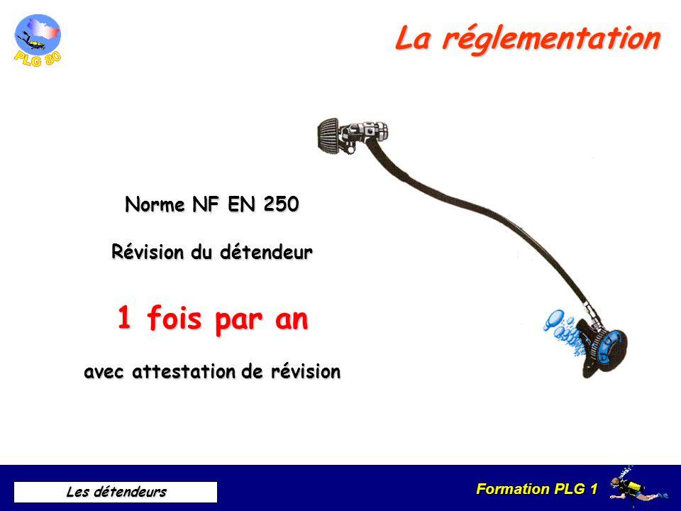 Formation PLG 1 Les détendeurs Ouvert inspiration Fermé expiration Ou état déquilibre Différents types 1 er étage à piston compensé