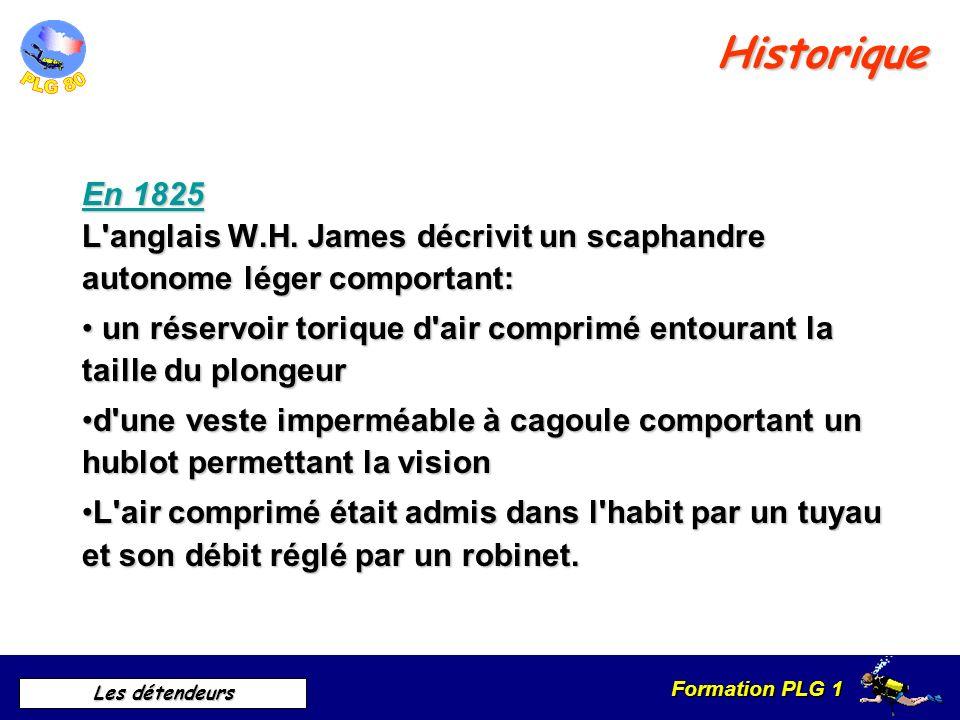 Formation PLG 1 Les détendeurs Historique En 1680 Le physicien Borelli