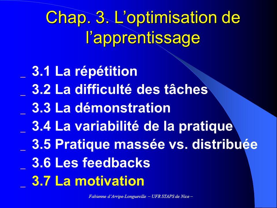 Fabienne dArripe-Longueville – UFR STAPS de Nice – Bibliographie Cury, F., & Sarrazin, P.