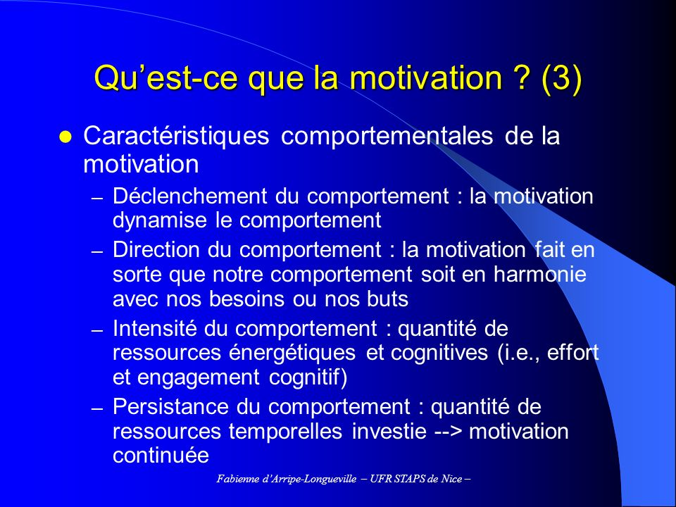 Fabienne dArripe-Longueville – UFR STAPS de Nice – IV.