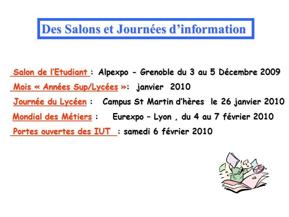 Salon de lEtudiant : Alpexpo - Grenoble du 3 au 5 Décembre 2009 Salon de lEtudiant : Alpexpo - Grenoble du 3 au 5 Décembre 2009 Mois « Années Sup/Lycé