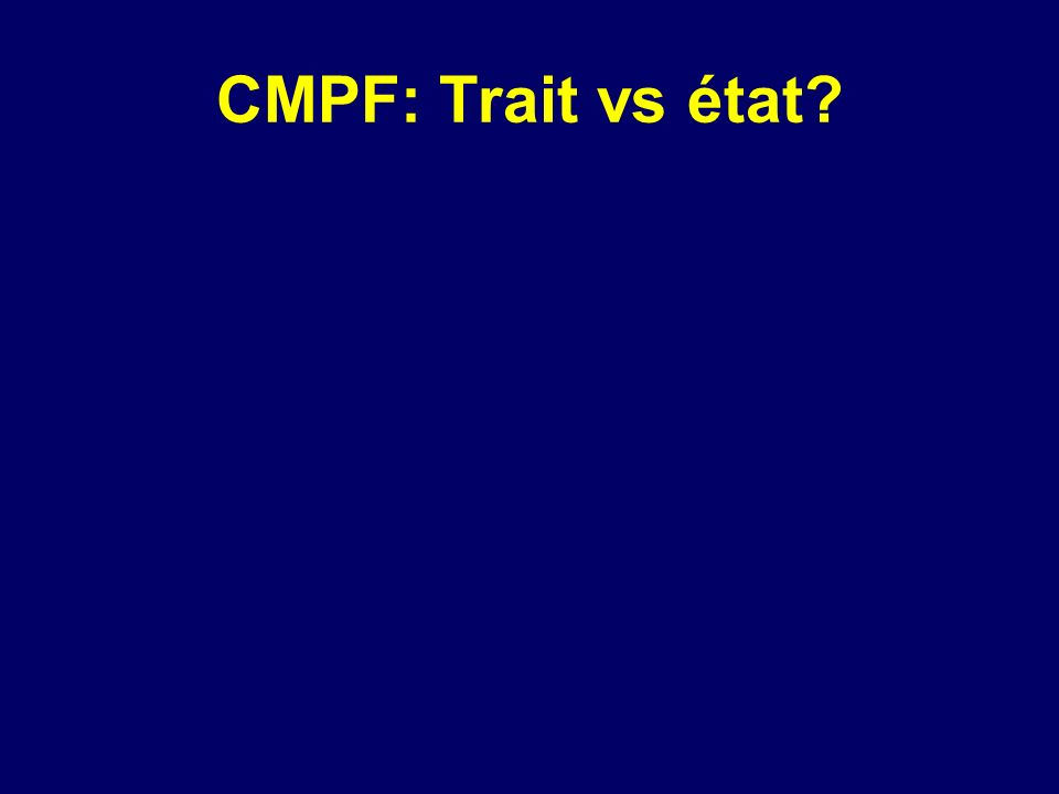 CMPF: Trait vs état?