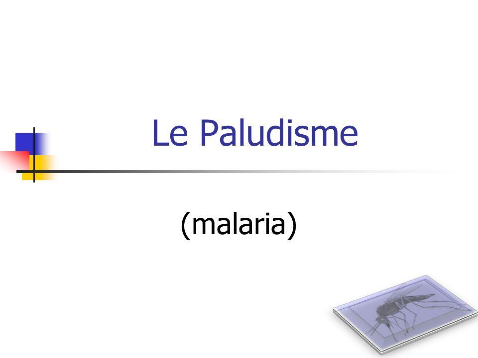 Epidémiologie mondiale (1) 36 % de la population (2,3 milliards) court un risque de paludisme 300 millions de cas / an (10 cas / sec) 2,7 millions de morts / an 80 – 90 % denfants en majorité africains Séquelles neurologiques fréquentes (enfants):10-20 % accès graves Majorité des cas graves pas daccès aux soins