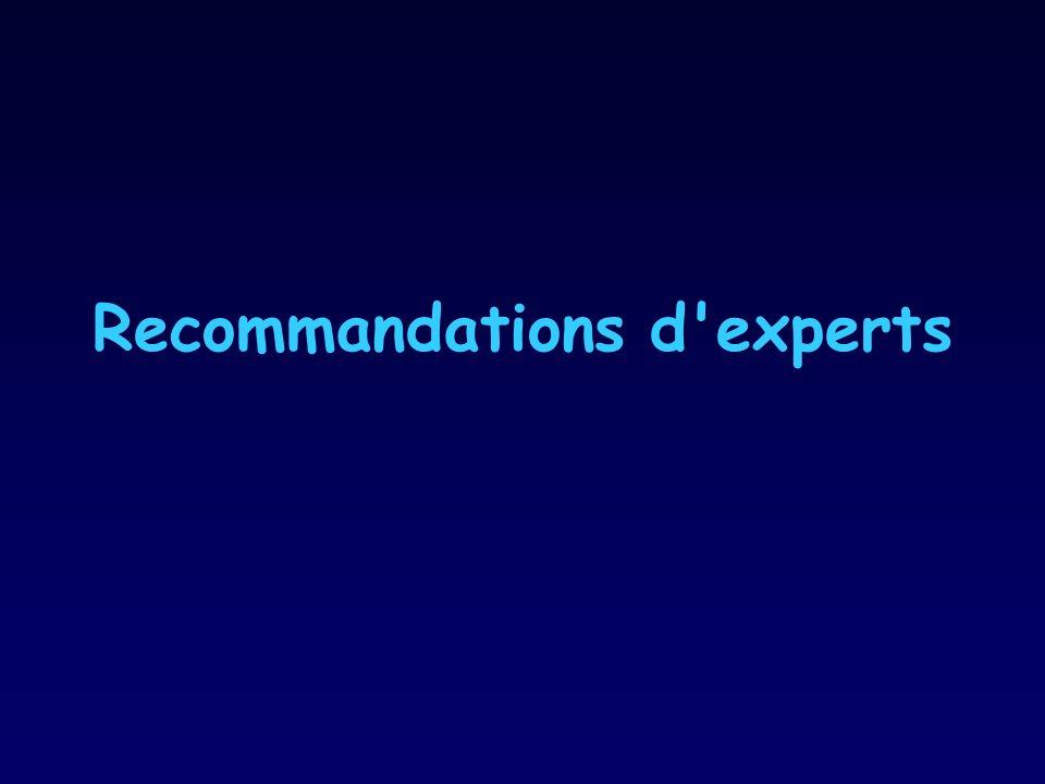 Recommandations d'experts