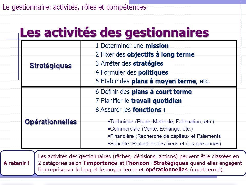 Stratégiques mission 1 Déterminer une mission objectifs à long terme 2 Fixer des objectifs à long terme stratégies 3 Arrêter des stratégies politiques