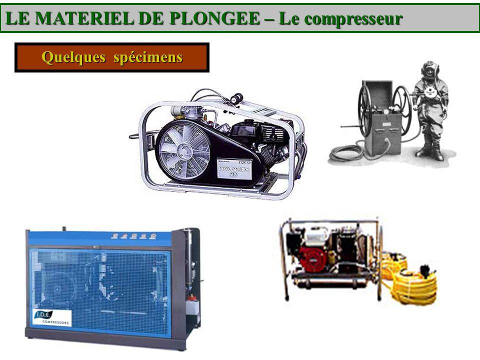Quelques spécimens LE MATERIEL DE PLONGEE – Le compresseur