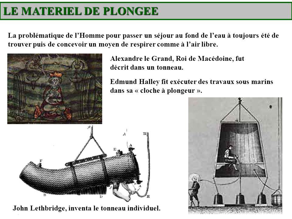 LE MATERIEL DE PLONGEE Historique du détendeur Mais cest en 1865 quapparaît le premier scaphandre autonome conçu par deux français, MM.