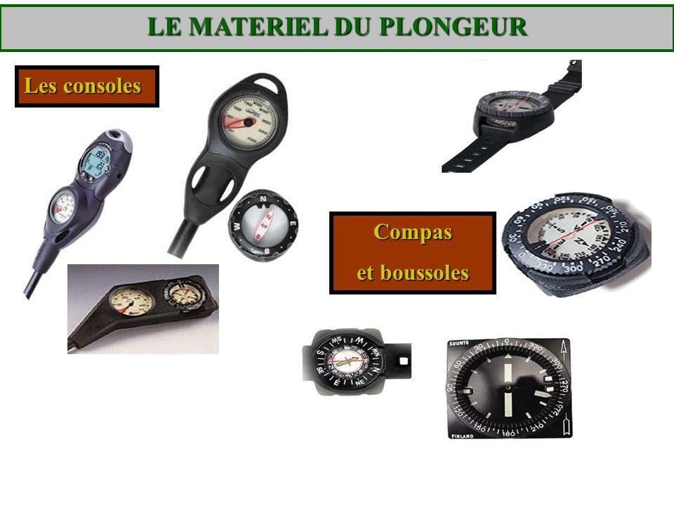 Les consoles Compas et boussoles LE MATERIEL DU PLONGEUR
