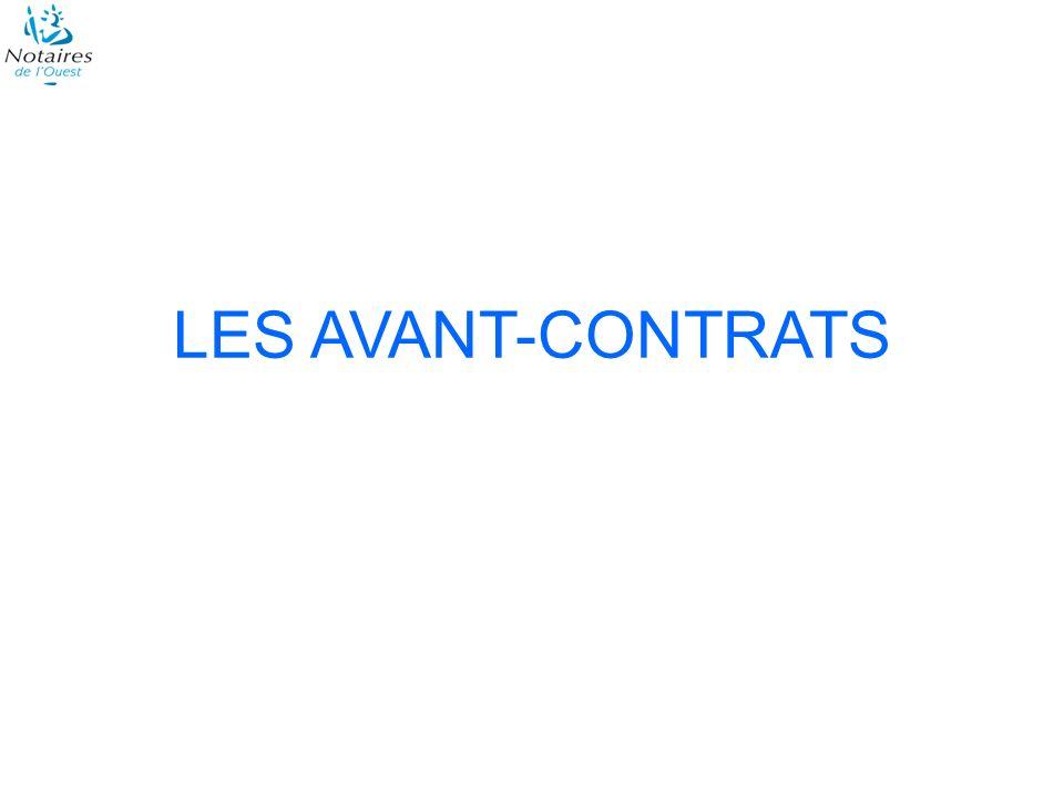 LES AVANT-CONTRATS