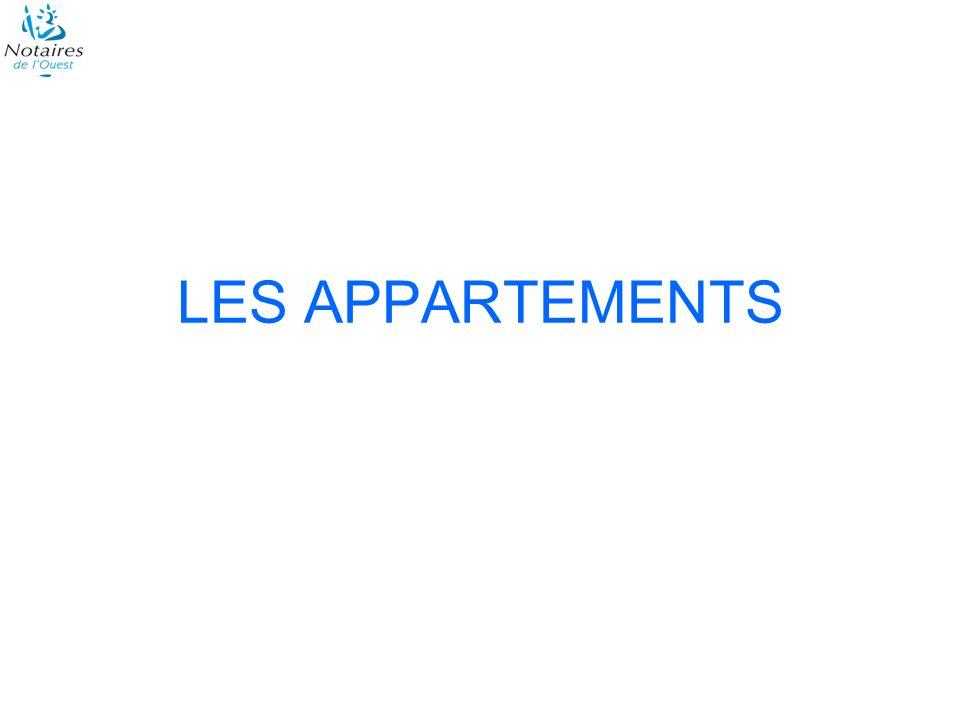 Les départements bretons Les appartements anciens Les volumes des transactions 1 er trimestre 2009 / 1 er trimestre 2008 Côtes dArmor: - 33 % Finistère: - 51 % Ille-et-Vilaine: - 43 % Loire-Atlantique: - 39 % Morbihan: - 29 % Ensemble: - 41 %