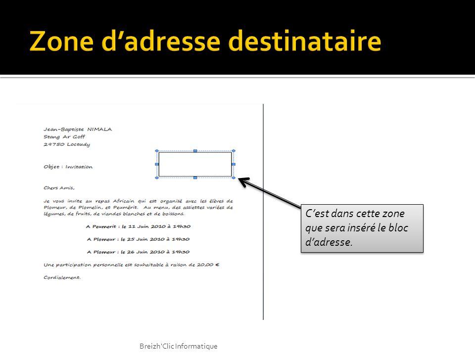Dans le cas des modifications ou des personnalisations ou encore de l édition, nous pouvons choisir … Modifier, Imprimer, Envoyer… Breizh Clic Informatique