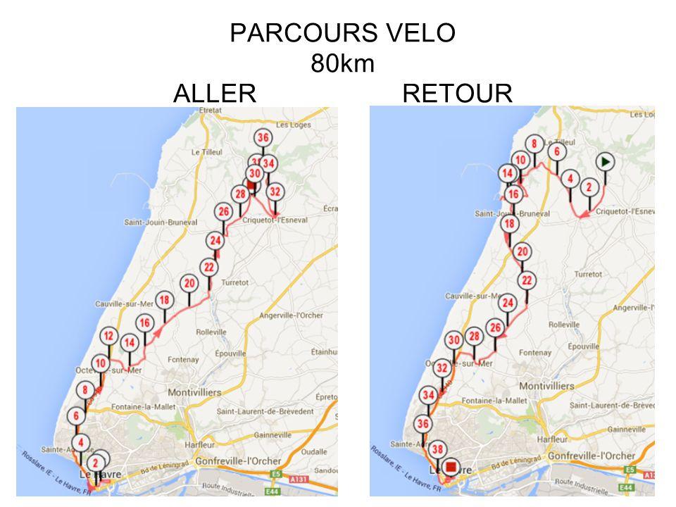 PARCOURS VELO - 80km DENIVELE ALL PARCOURS VELO - 80km DENIVELE ALLER ET RETOUR