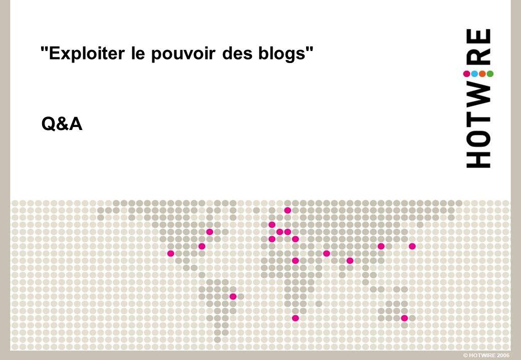 Exploiter le pouvoir des blogs Q&A